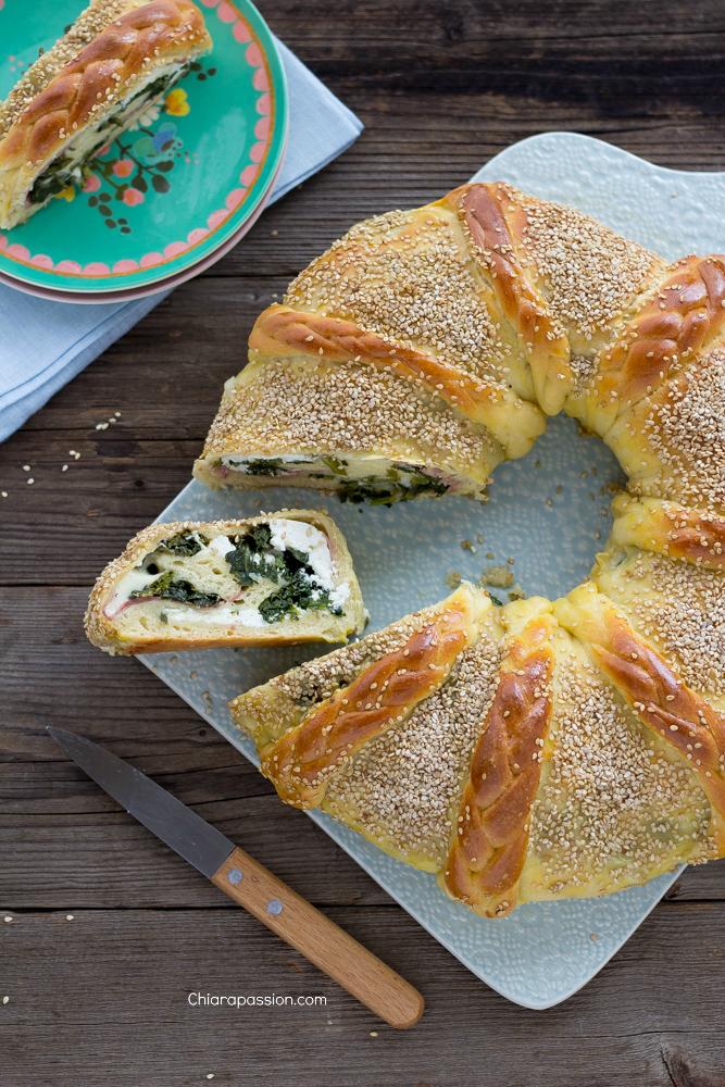 corona_salata_di_pan_brioche_con_ricotta_prosciutto_broccoli