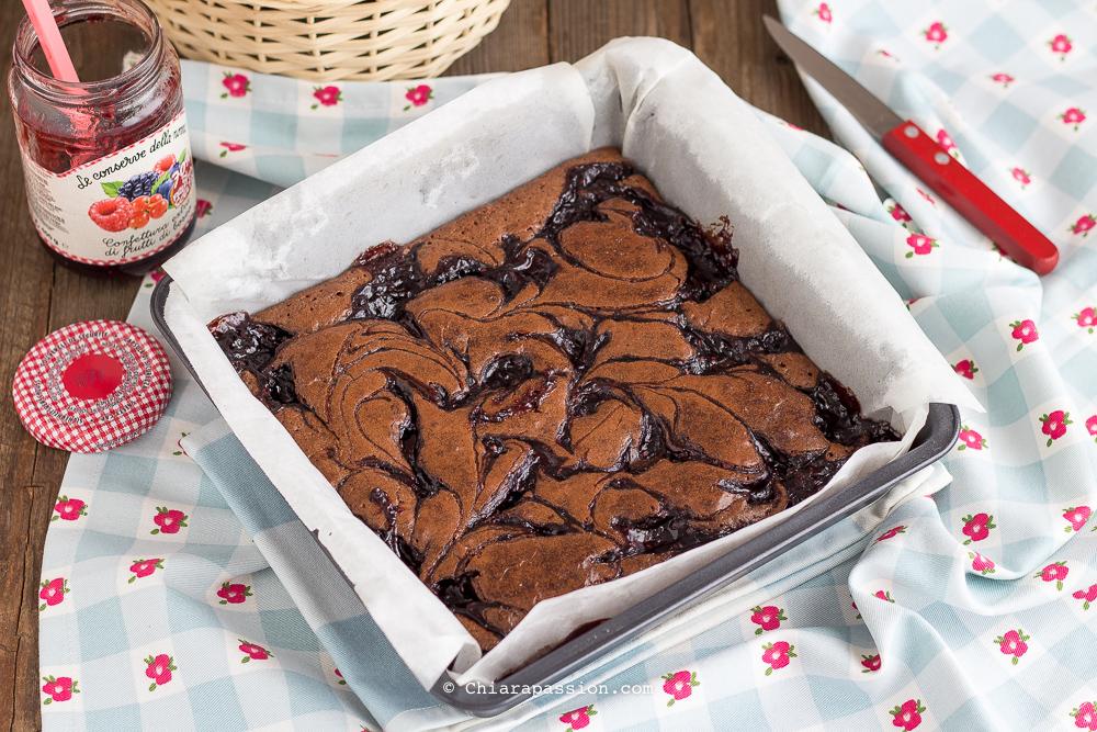 brownies-alla-marmellata-marmorizzato-ricetta-facile-veloce
