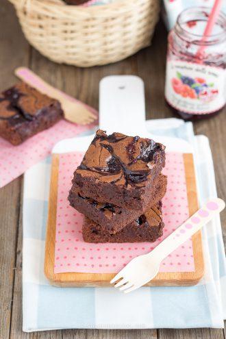 come-fare-brownies-alla-marmellata-effetto-marmorizzato-ricetta-facile-veloce
