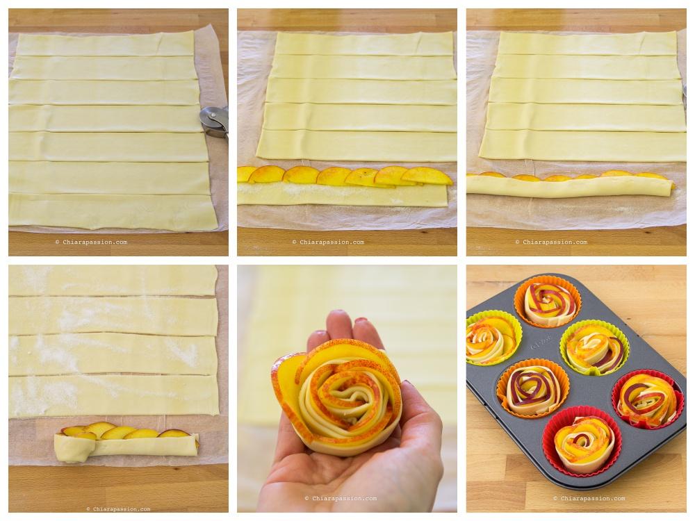 come-fare-le-rose-di-pasta-sfoglia-con-le-pesche-tutorial-ricetta-con-frutta-puff-pastry