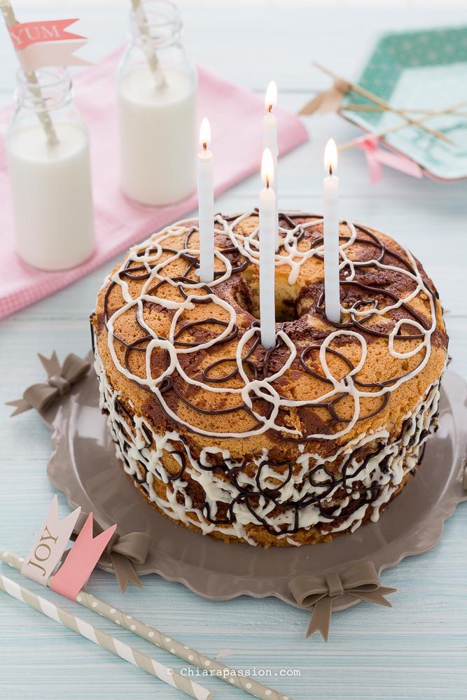 ricetta-ciambella- marmorizzata-chiffon-cake-bicolore-torta-compleanno