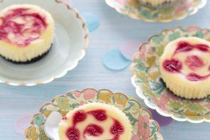 mini-cheesecake-ai-lamponi-marmorizzate-ricetta-facile