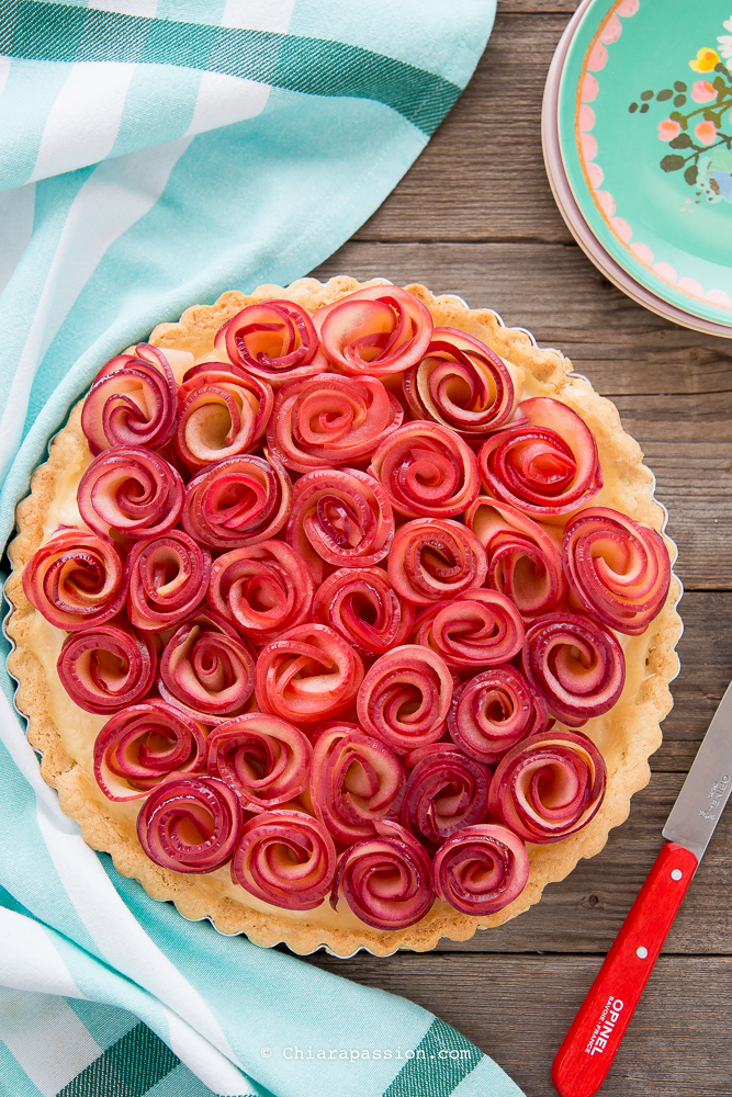 come-fare-la-crostata-con-rose-di-mele