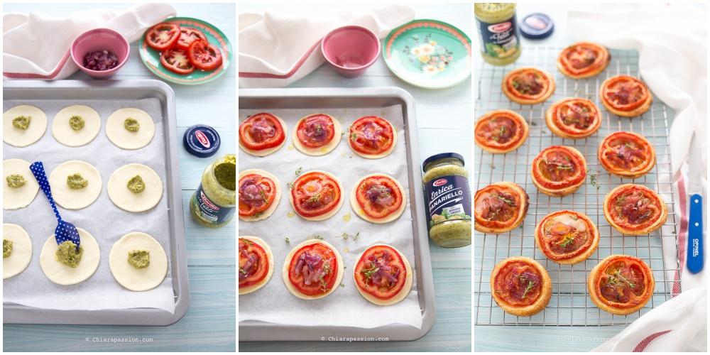 ricetta-pizzette-di-pasta-sfoglia-con-pomodoro-pesto