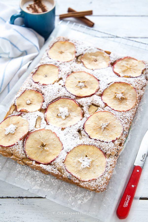 Ricetta torta di mele rettangolare