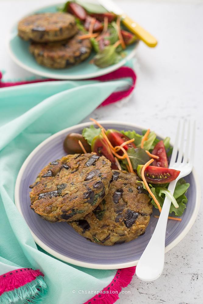 Ricetta hamburger di melanzane senza uova chiarapassion for Melanzane ricette