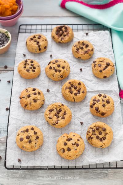 Cookies Zucca e Gocce di Cioccolato Vegan