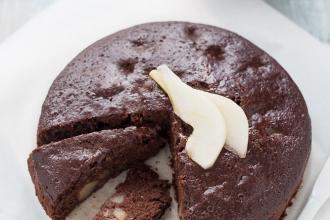 ricetta-torta-pere-cioccolato-senza-uova-latte-burro-vegana