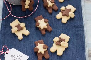 Biscotti pasta frolla al cacao e vaniglia