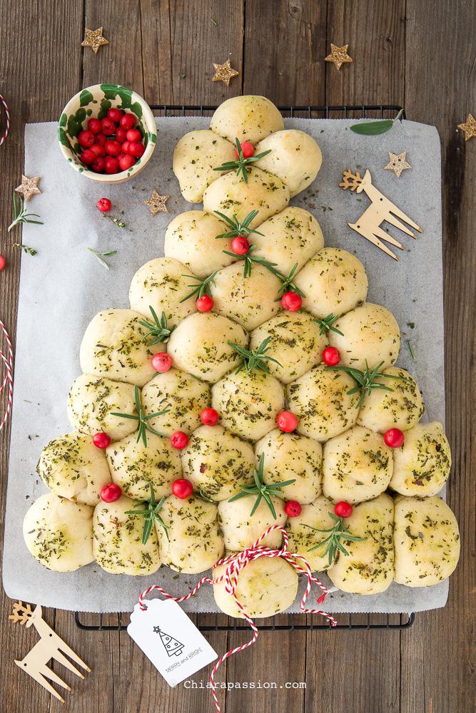 Torta A Forma Di Stella Di Natale.Albero Di Natale Di Panini All Olio
