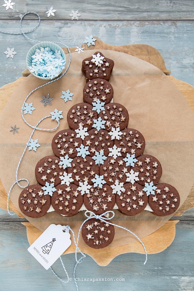 Torta A Forma Di Stella Di Natale.Albero Pan Di Stelle