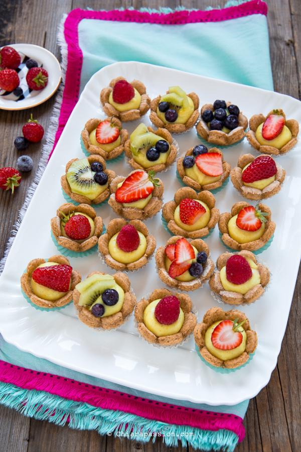 Cestini Di Frutta Con Crema Ricetta Crostatine Alla Frutta
