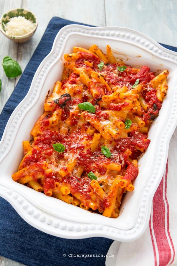 Pasta al forno facile ricetta veloce senza besciamella for Ricette primi piatti originali