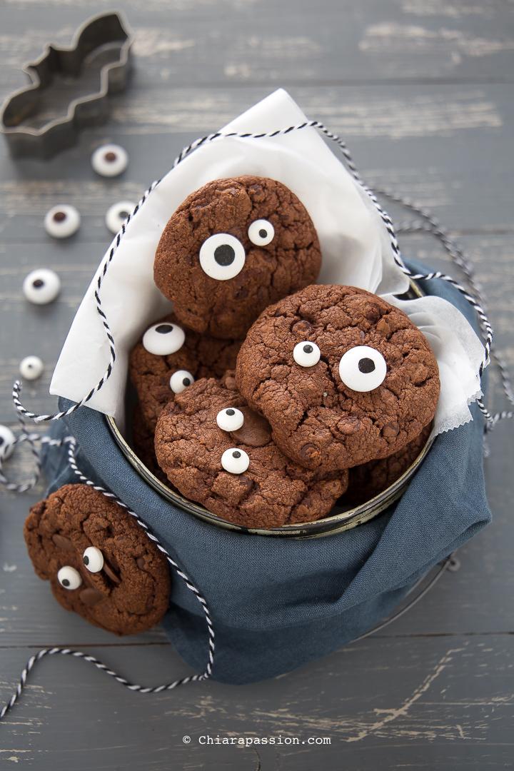 Dolci Halloween.Cookies Di Halloween Al Cioccolato