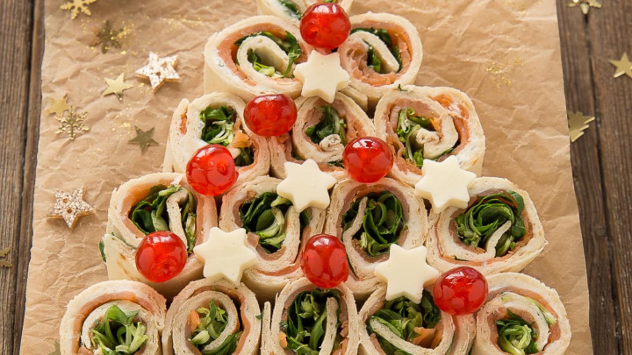 Antipasti Di Natale Montersino.Albero Girelle Di Piadine Gorgonzola E Salmone