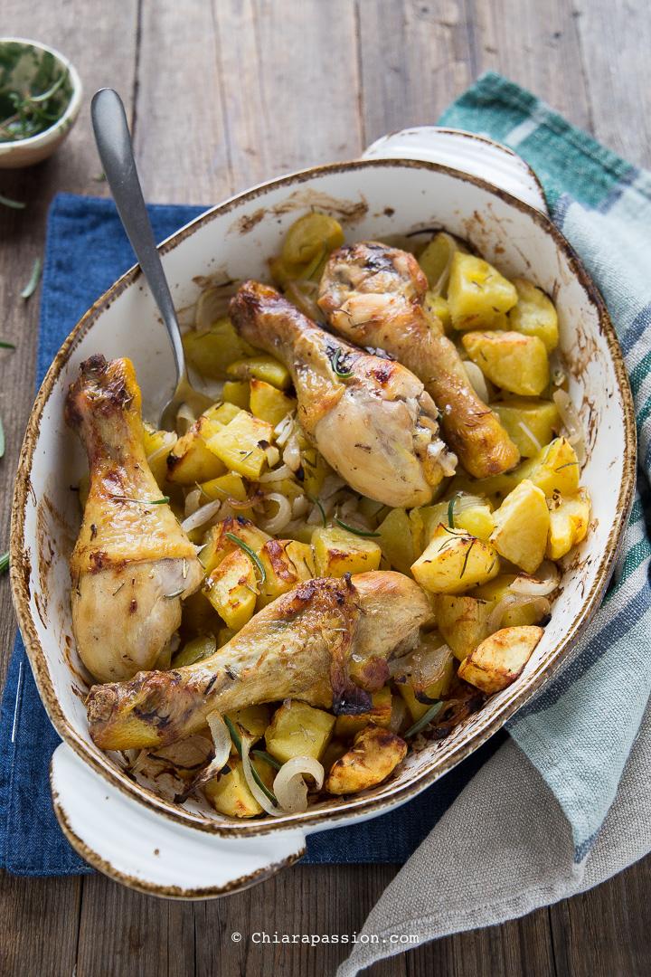 Pollo E Patate Al Forno Morbido Ricetta Gustosissima