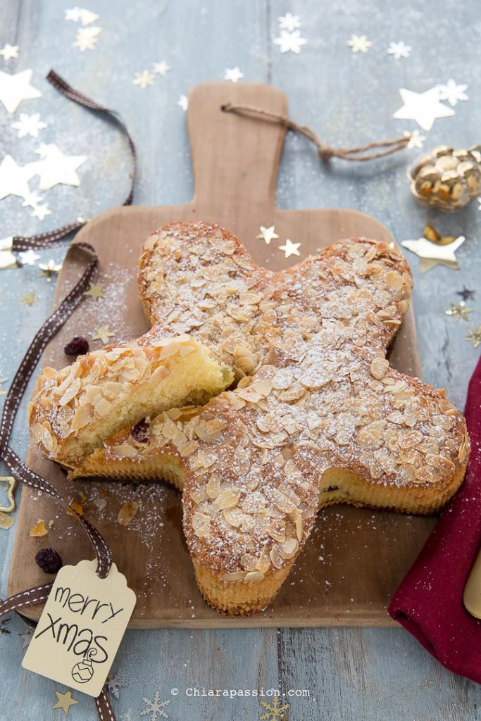 Pane A Forma Di Stella Di Natale.Torta Stella Di Natale Ricetta Per Natale Con Le Mandorle