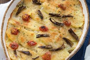 Tiella riso, patate e carciofi