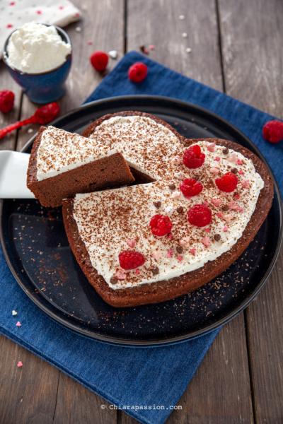 Torta a Cuore: Torta Panna e Cioccolato