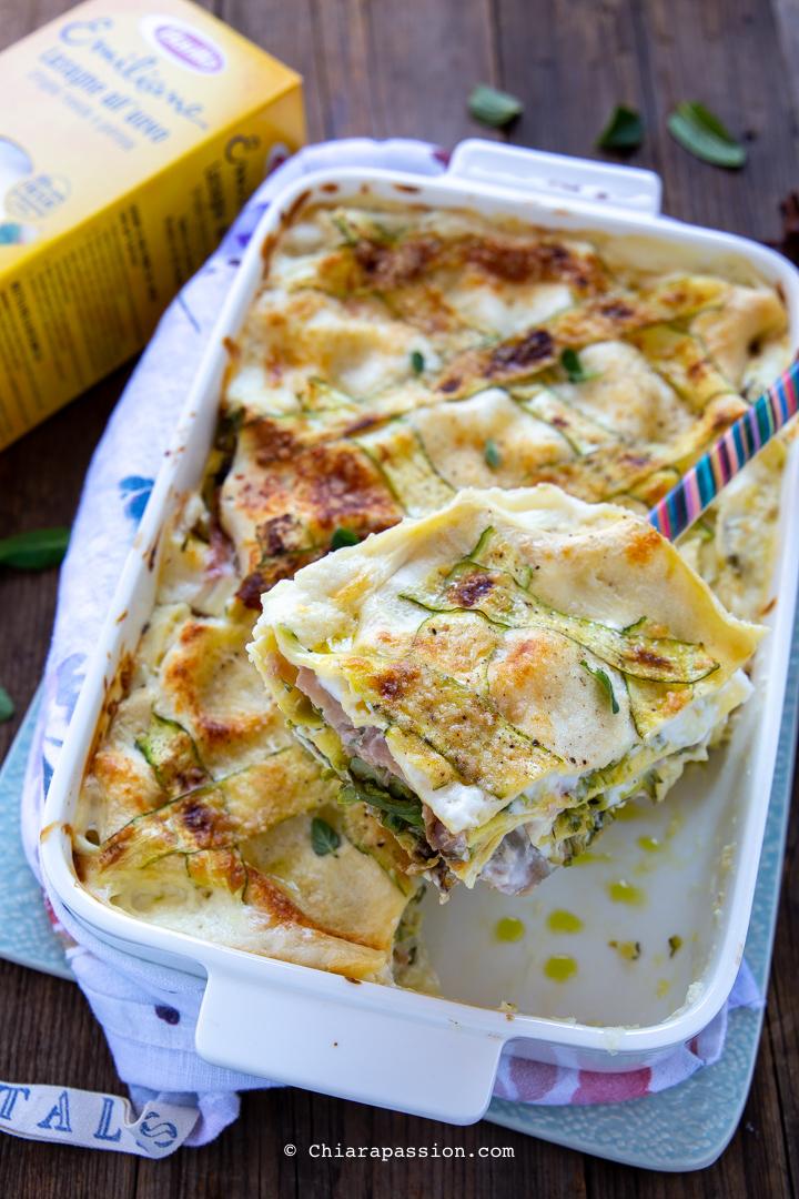 Ricetta Lasagne Bianche.Lasagne Alle Zucchine Ricetta Facile Veloce Cremosa